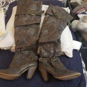 Aldo Shoes - Aldo Dark Brown Over the Knee Boots